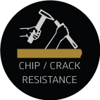 chip/crack resistance feature icon