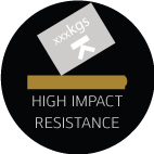 high impact resistance feature icon