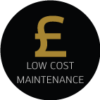 low cost maintenance feature icon
