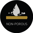 non-porous feature icon