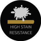 high stain resistance feature icon